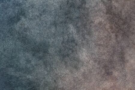 Abstract art background dark blue and brown colors. Multicolor watercolor painting on canvas with stains. Fragment of gradient artwork on paper with pattern. Texture gray backdrop with smoke effect.