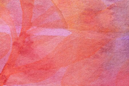Abstract art background dark red and pink colors. Watercolor painting on canvas with soft coral gradient. Fragment of orange artwork on paper with pattern. Texture backdrop, macro. Zdjęcie Seryjne