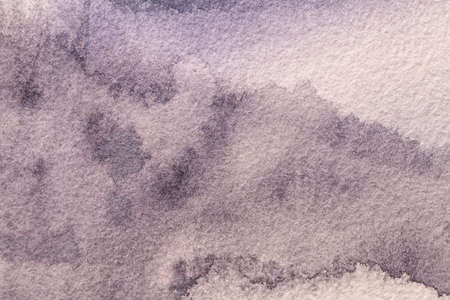 Abstract art background light purple colors. Watercolor painting on canvas with soft violet gradient. Fragment of artwork on paper with lilac pattern. Texture backdrop, macro.