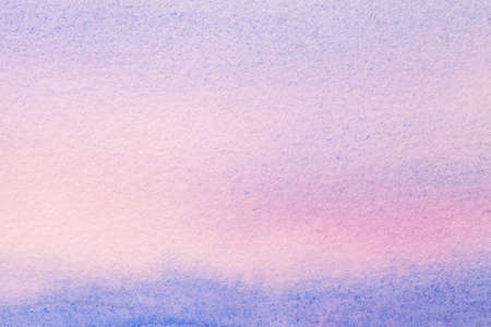 Abstract art background light blue and purple colors. Watercolor painting on canvas with soft lilac gradient. Fragment of artwork on paper with pattern. Texture backdrop. Archivio Fotografico