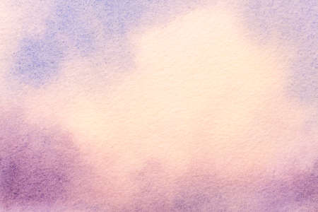 Abstract art background light blue and purple colors. Watercolor painting on canvas with soft white gradient. Fragment of artwork on paper with pattern. Texture backdrop.