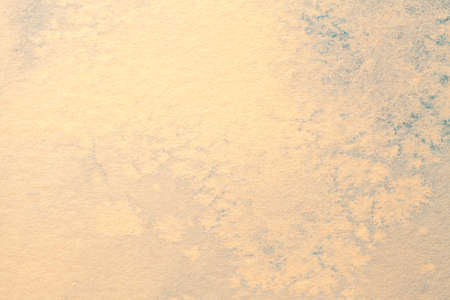 Abstract art background beige and blue colors. Watercolor painting on canvas with soft cream gradient. Fragment of artwork on paper with pattern. Texture backdrop.