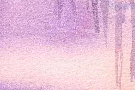 Abstract art background light purple and pink colors. Watercolor painting on canvas with soft lilac gradient. Fragment of artwork on paper with violet pattern. Texture backdrop.