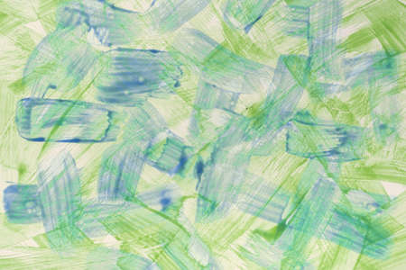 Abstract art background light blue and green colors. Watercolor painting on canvas with vibrant color strokes and splash. Acrylic artwork on paper with spotted pattern. Texture backdrop.