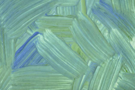 Abstract art background light green and blue colors. Watercolor painting on canvas with cyan strokes and splash. Acrylic artwork on paper with brushstroke pattern. Texture backdrop.