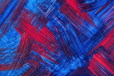 Abstract art background dark red and navy blue colors. Watercolor painting on canvas with sapphire strokes and splash. Acrylic artwork on paper with brushstroke pattern. Texture backdrop.
