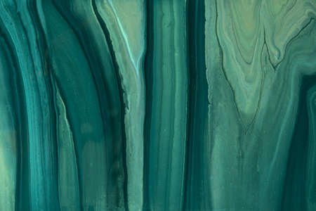 Abstract fluid art pattern dark green and olive glitter colors. Liquid marble. Archivio Fotografico