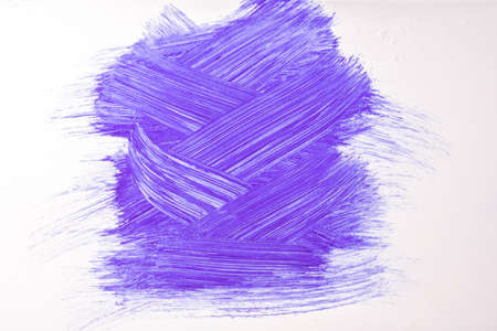 Abstract art pattern purple and white colors. Watercolor painting on canvas with violet strokes and splash.
