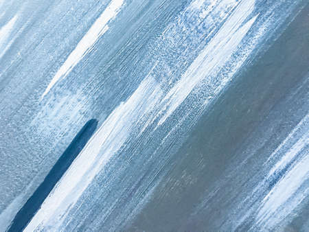 Abstract art background light blue and white colors. Watercolor painting on canvas with sky gradient. Acrylic texture backdrop with brushstroke pattern.