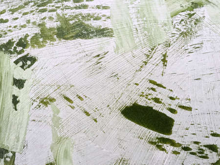 Abstract art background light green and white colors. Watercolor painting on canvas with olive gradient. Acrylic texture backdrop with splatter pattern. Archivio Fotografico