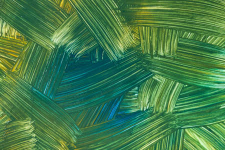 Abstract art background dark green and blue colors. Watercolor painting on canvas with strokes and splash. Acrylic artwork on paper with olive spotted pattern. Texture backdrop.
