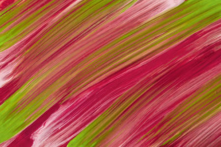 Abstract fluid art background dark purple and green colors. Liquid marble. Acrylic painting on canvas with red gradient. Watercolor backdrop with striped pattern.