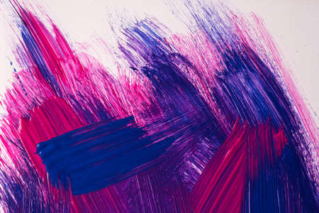Abstract art background dark purple and navy blue colors. Watercolor painting on canvas with white strokes and splash. Acrylic artwork on paper with brushstroke pattern. Texture backdrop. Archivio Fotografico