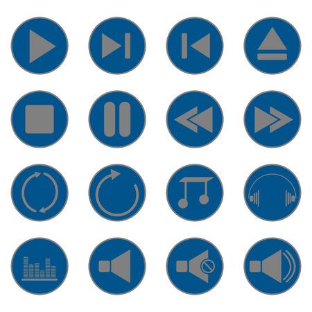control panel: icone del pannello di controllo della musica Vettoriali
