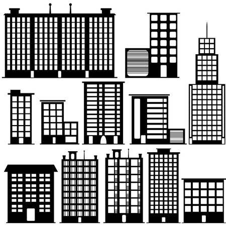 buildings set Vector