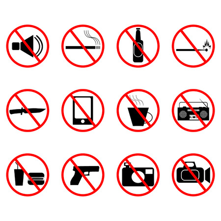 banned icons Vector
