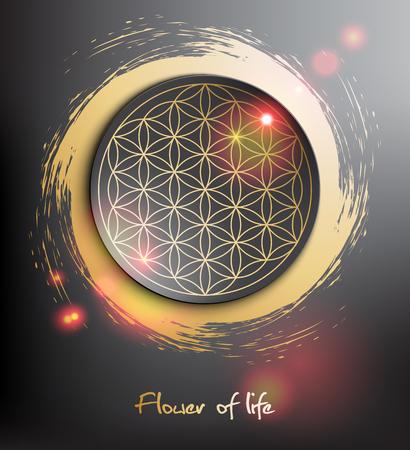 Flower of life. Sacred geometry. Vector illustration. Eps10.