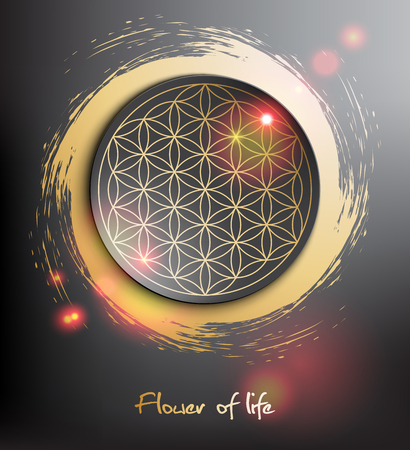 Flower of life. Sacred geometry. Vector illustration. Eps10. Imagens - 92840442