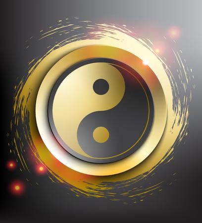 Yin Yang symbol. Sacred geometry. Vector illustration.