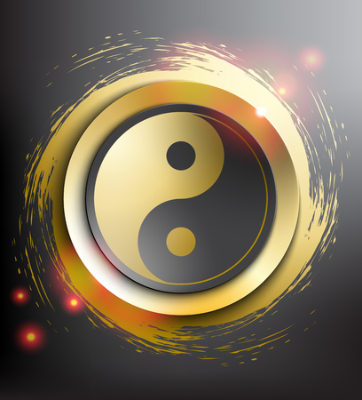 Yin Yang symbol. Sacred geometry. Vector illustration.