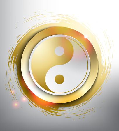 Símbolo de Yin Yang. Geometría sagrada. Ilustración vectorial Eps10. Ilustración de vector