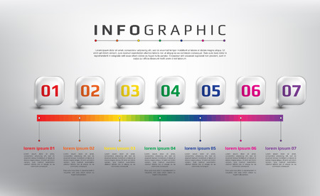Horizontal vector timeline info graphic. 4 steps concept. Can be used for workflow layout, banner, number options, step up options, diagram, web design. Vector illustration. Eps10.