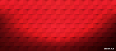 Abstract vector background. Red geometric background.
