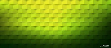 Abstract vector background. Green geometric background. Use for template, poster or brochure design. Ilustração
