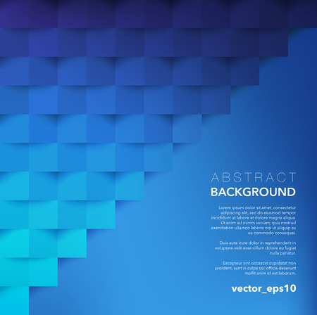Abstract vector background. Blue geometric background. Use for template, poster or brochure design. Vector illustration.