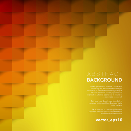 Abstract vector background. Yellow geometric background. Use for wallpaper, template, brochure design.