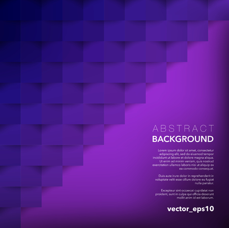 Abstract vector background. Violet geometric background. Use for wallpaper, template, brochure design. Ilustração