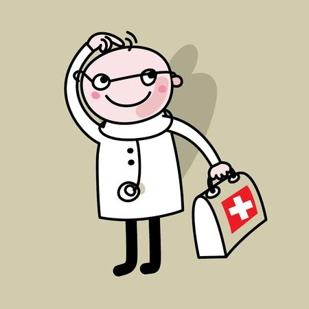 marvel: Cartoon Arzt Illustration