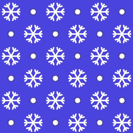 Christmas pattern with snowflakes Vector