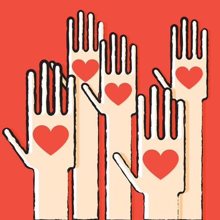 charitable: Hands with love