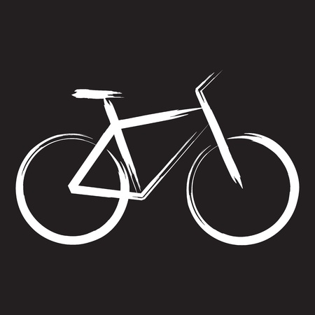 delineation: bicycle Illustration