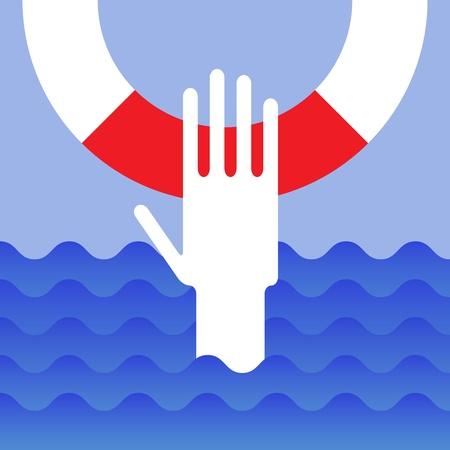 ahogarse: Mano de hombre de ahogarse