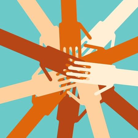 Human hands unity Stock Vector - 12208518
