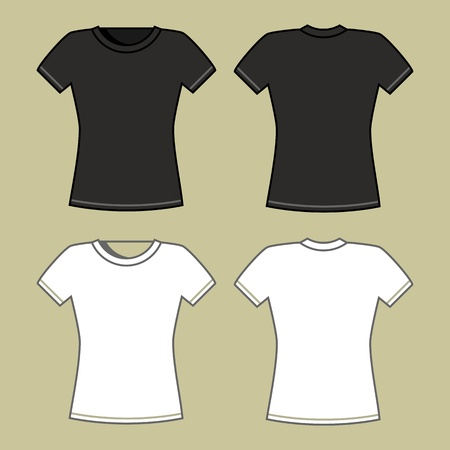 Black and white t-shirt template  Stock Vector - 12208529