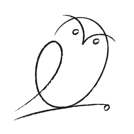 night bird: Owl illustration Illustration