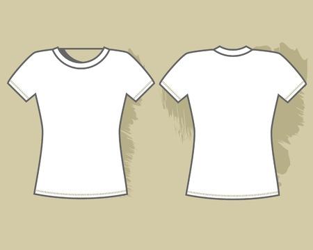 White t-shirt template  Vector