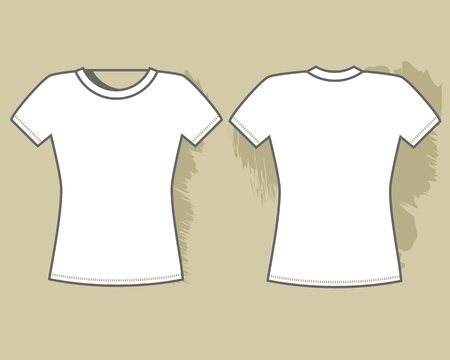 White t-shirt template  Vector