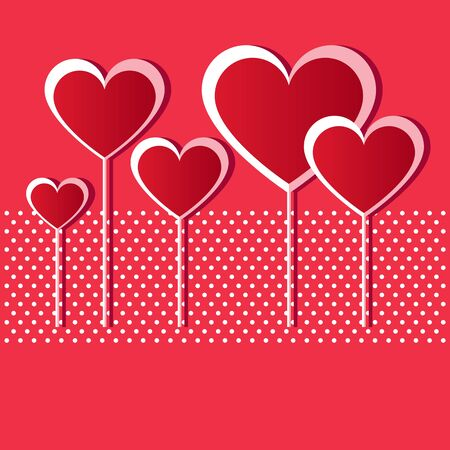 Valentine red hearts  Vector