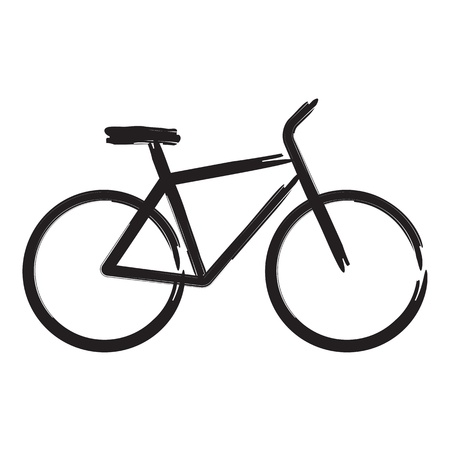 bicycle icon: Vector illustration of bicycle