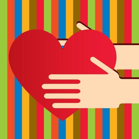 rothadó: Illusztráció kezek, szív