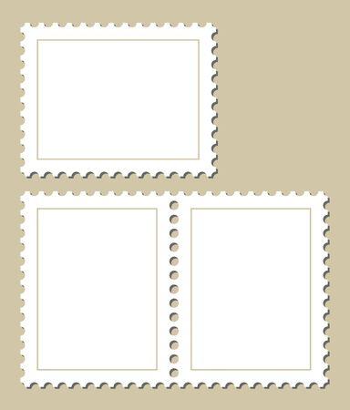 stempel: Blank stamp template