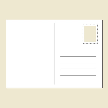 The back of blank postcard Stock Vector - 13606916