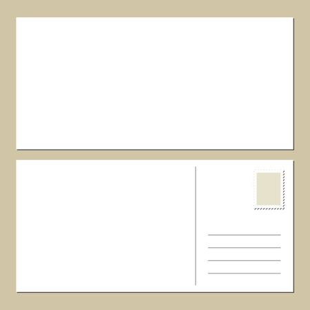 Blank postcard front   back Stock Vector - 13606912