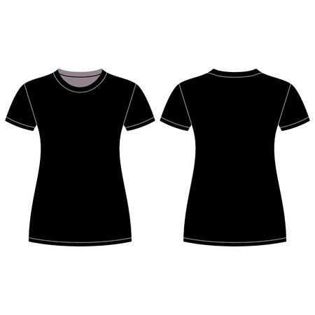 Black t-shirt design template Stock Vector - 13709990