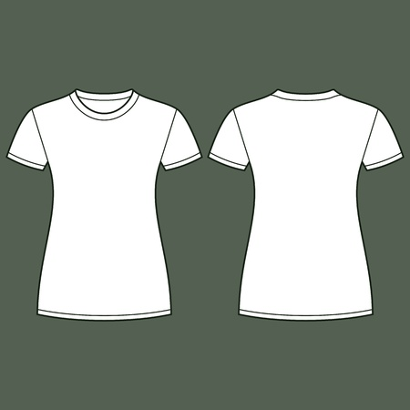 unisex: White t-shirt design template