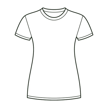 shirt design: White t-shirt design template